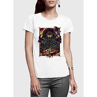 Cancel the apocalypse half sleeves women t-shirt