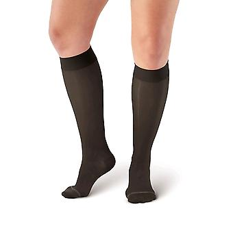 Pebble UK Sheer Compression Knee Highs [Style P18] Black  XL