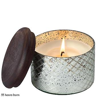 Himalayan Diamond Etched Glass Small With Red Currant Fragrance Candle