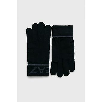 EA7 by Emporio Armani Cotton Navy Gloves