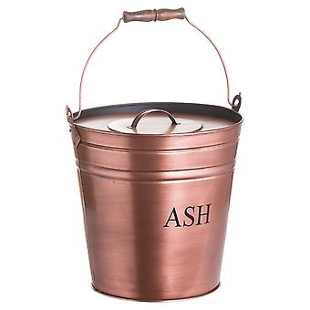 Hill Interiors Ash Bucket in Kupfer-Finish