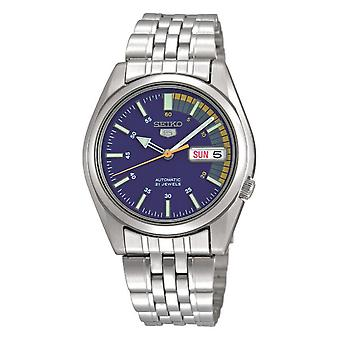 Seiko 5 Automatic Blue Dial Silver Stainless Steel Men's Watch SNK371K1