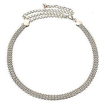 44 pulgadas señoras oro ladrillo forma diseño cadena cinturón de cintura