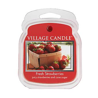 Village Candle Wax Melt Packs For Use with Melt Tart & Oil Fresh Strawberries