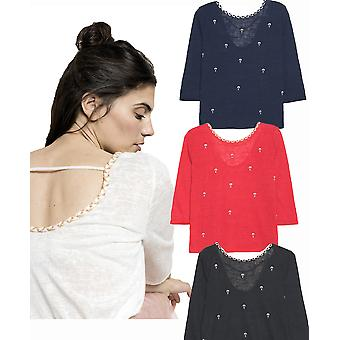 Grace and Mila Marcel Hot Air Balloon Embroidery Fine Knit Top