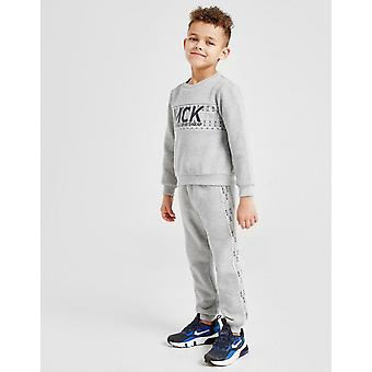 New McKenzie Boys' Mini Aitor Crew Tracksuit Grey
