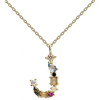 PD Paola CO01-105-U necklace and pendant - I AM in gold silver with natural stones and semi-precious Women