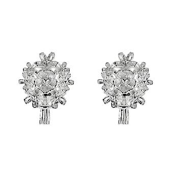 Dew Sterling Silver Forget Me Not Bouquet Stud Earrings 40808HP