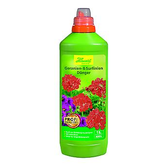 HAUERT Gerania and Surfinia Fertilizer, 1 litre