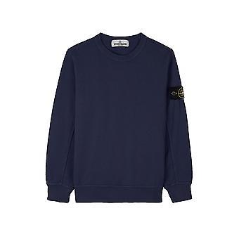Stone Island Junior Stone Island Junior Navy Blue Sweatshirt