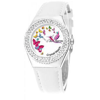 Se så sjarm klokker MF316-PAPILLON-COLIBRI-BLANC - Kvinners Watch