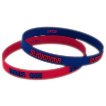 FC Barcelona Silicone Wristbands (Pack Of 2)