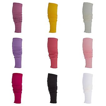 Clearance Ladies/Womens Plain Tight Fitted Winter Leg Warmers (1 Pair)
