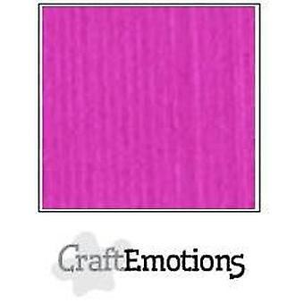 CraftEmotions linen cardboard 10 Sh coral Magenta LHC-53 A4 250gr