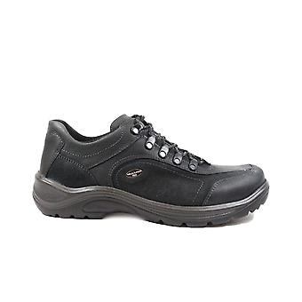 Waldläufer Jack Hayo 415901 300 954 zwart nubuck leer mens Lace up wandelschoenen