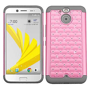 ASMYNA FullStar Protector Case for HTC Bolt - Pearl Pink/Gray