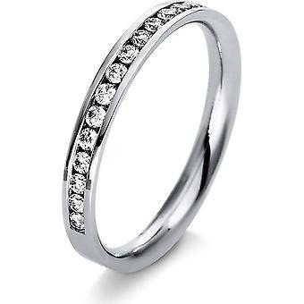Diamantringring - 18K 750/- Vitt guld - 0,25 ct. - 1M419W853 - Ringbredd: 53