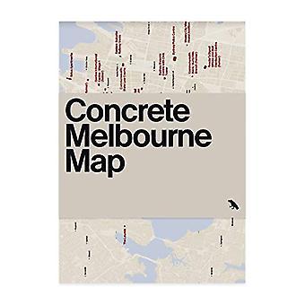 Concrete Melbourne Map by Glenn Harper - 9781912018543 Book