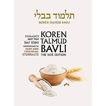 Koren Talmud Bavli - Noe Edition - Vol 36 - Menahot Part 2 - Hebrew/En