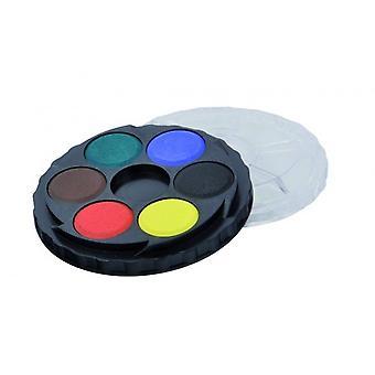 Koh-I-Noor Rond Watercolour Paint Palette - 1 Tier (6 couleurs)