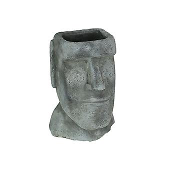 Easter Island Ahu Akivi Moai Concrete Planter Plant Pot 9 Inches High