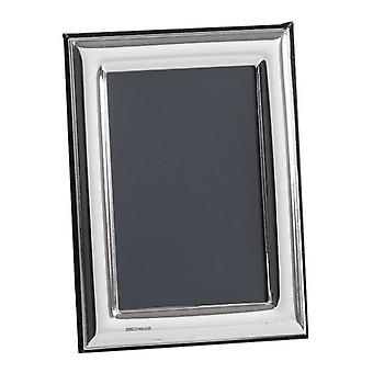 Orton West Plain Polished Photo Frame 6x8 - Silver