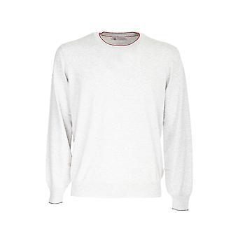Brunello Cucinelli M2900100cl342 Men's Grey Cotton Sweater