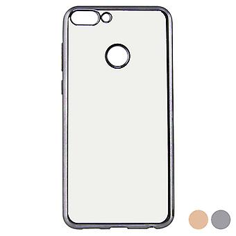 Cubierta móvil Huawei P Smart KSIX Flex Metal/Grey