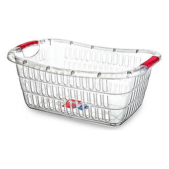 Laundry Basket Confortime Transparent (54 X 37 x 22 cm)