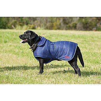 Weatherbeeta Tweed Dog jas-Navy Blue Tweed