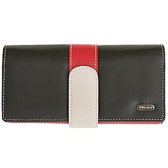 Felda Genuine Leather Ladies Purse Wallet - Large With 25 Card Slots