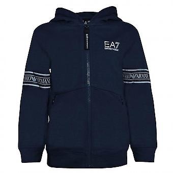 EA7 Boys EA7 Boy's Navy Blue Zip Up Sweat Top