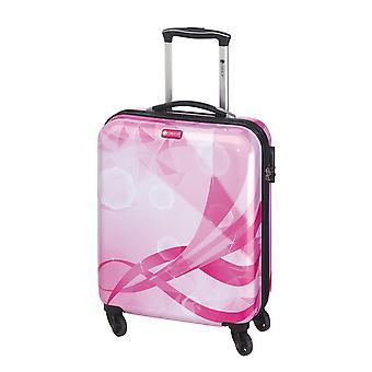 Controleren. IN Atlantis Dames Handbagage Trolley S, 4 Wielen, 54 cm, 30 L, Roze