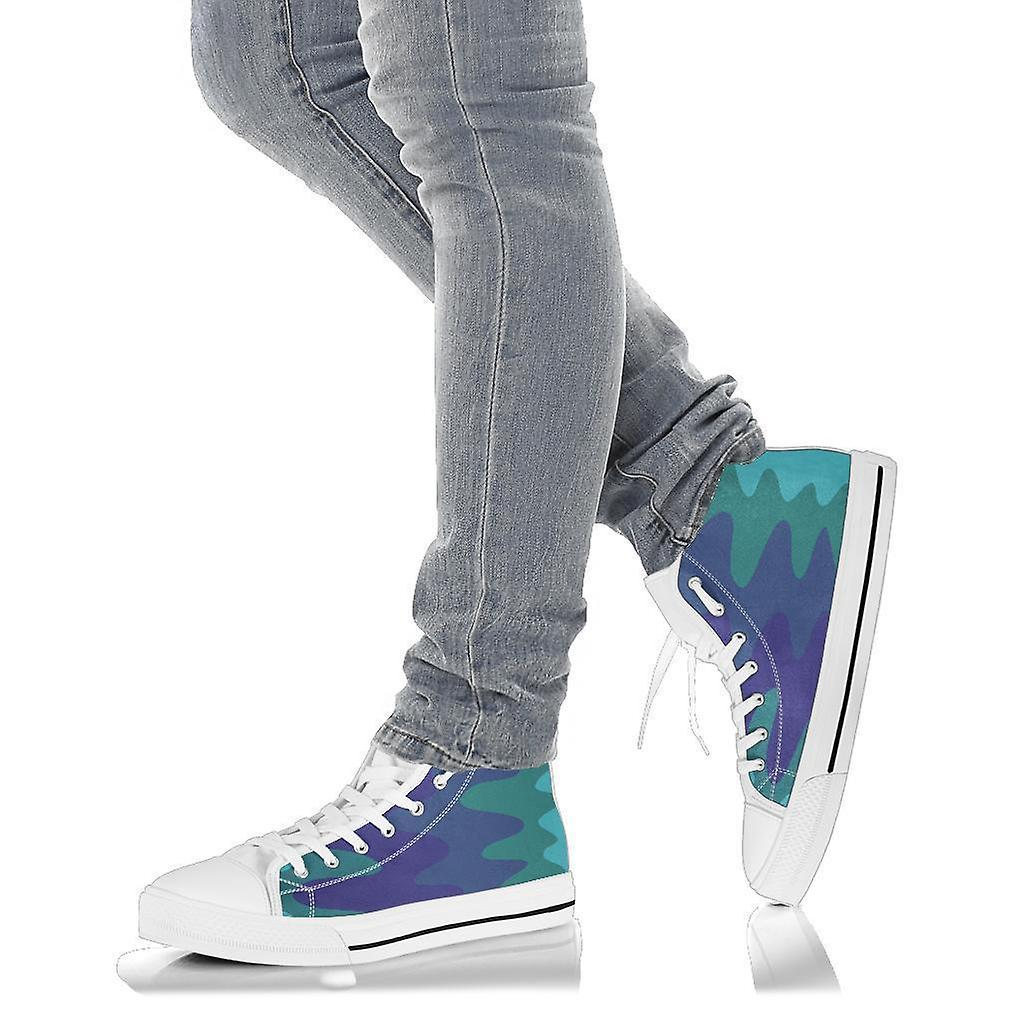 High Top Shoes | Wavy Cool (White)