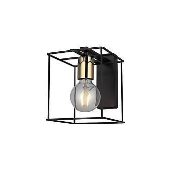 Mako Wall Lamp Black Color, Métal Or, L15xP24xA21 cm