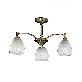 Emmy Bronze Ceiling Lamp 3 Bulbs