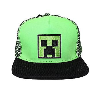 Minecraft Creeper Embroidered Green Snapback Cap