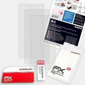 atFoliX 3x Screen Protector kompatibilný s Prestigio Wize V3 Screen Protection Film jasné