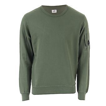Men's C.P. Company Light Fleece Crew Sweatshirt in Green