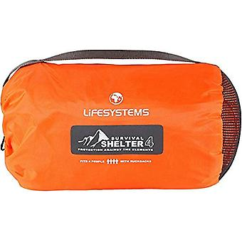 Lifesystems 4-6 Person Survival Shelter Tent Orange Lightweight Outdoor Use