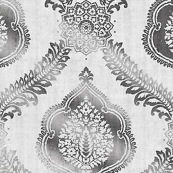 Metallic Damask Fine Decor Wallpaper Non Woven Alhambra
