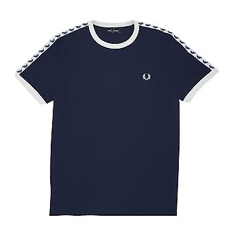 Fred Perry Taped Ringer T-shirt Blauw T-shirt