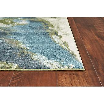 3' x 5' Teal Abstract Splashes Area Rug