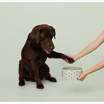 Cath Kidston Provence Rose Ceramic Dog Feeding Bowl