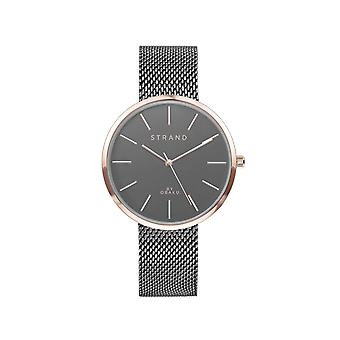 Strand By Obaku S700LXVJMJ Sunset-Granite Grey Dial Wristwatch
