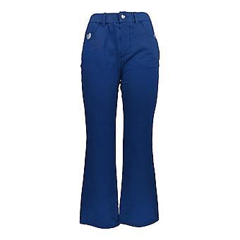 Quacker Factory Women's Petite Pants DreamJeannes Short Bootcut Blue A272892