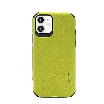 For iPhone 11 Case Fabric Texture Denim Slim Fashionable Protective Cover Green