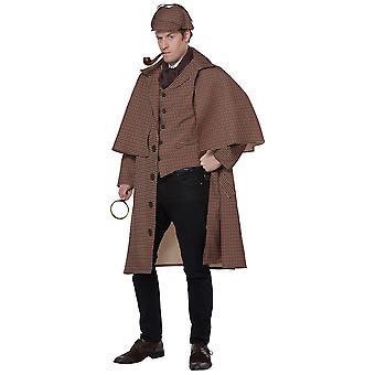 Costume Deluxe Mens di inglese Detective Sherlock Holmes Private ispettore TV Movie