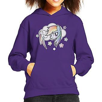 Il mio piccolo pony arcobaleno Dash Cloud Kid's Felpa con cappuccio