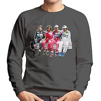 Motorsport Images Mansell Piquet Prost Senna Pitwall Homme-apos;s Sweatshirt